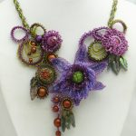 Purple Organic Necklace