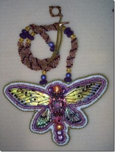Purple Insect Necklace